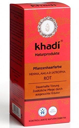 Recensione e applicazione di Khadi hennè per capelli dal riflesso rosso