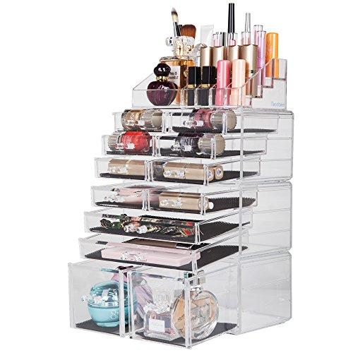 Readaeer scatola cosmetici porta trucchi e makeup con 12 cassettiere