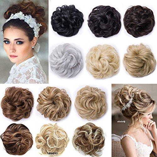 Extension clip capelli sintetici chignon per capelli ricci o mossi